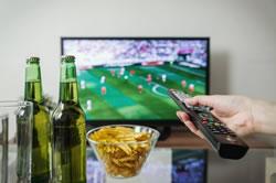 TV Zuschauer bei der Fußball EM