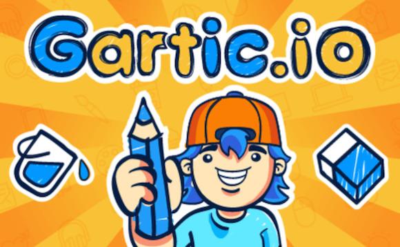 Startbildschirm von Gartic.io